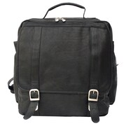 Piel Vertical Backpack; Black