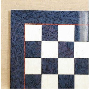 Ferrer 17'' Briar Chess Board in Blue / Ivory Glossy