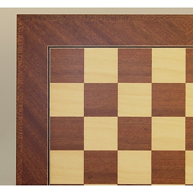 Ferrer 18'' Veneer Chess Board in Mahogany / Maple