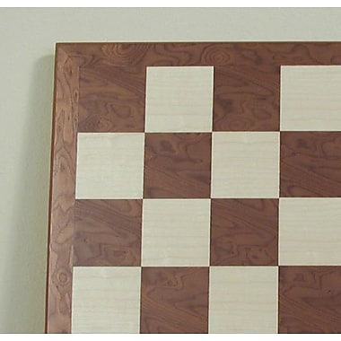 Ferrer 17'' Veneer Chess Board in Hazelnut / Maple
