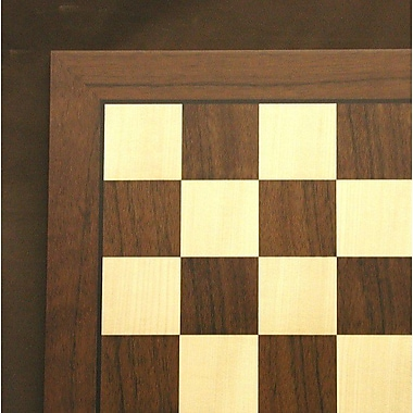 Ferrer 20'' Veneer Chess Board in Dark Rosewood / Maple