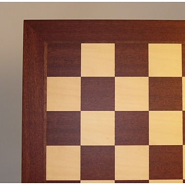 Ferrer 21'' Veneer Chess Board in Mahogany / Maple