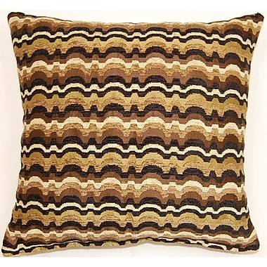 Dakotah Pillow Throw Pillow (Set of 2); Chocolate