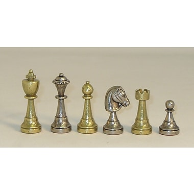 Ital Fama Staunton Metal Men Chessmen