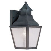 Livex Lighting Vernon 1 Light Outdoor Wall Lighting; Charcoal
