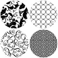 Thirstystone 4 Piece It's All Black and White Coaster Set