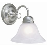 Design House Millbridge 1 Light Wall Mount; Satin Nickel
