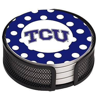 Thirstystone 5 Piece Texas Christian University Dots Collegiate Coaster Gift Set