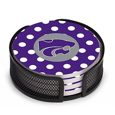 Thirstystone 5 Piece Kansas State University Dots Collegiate Coaster Gift Set