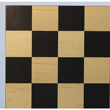 WorldWise Chess 15.5'' Black / Maple Basic Chess Board