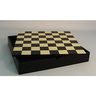 WorldWise Chess 16.25'' Chest Chess Board in Black / Maple