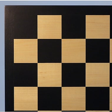 WorldWise Chess 17.25'' Black / Maple Veneer Chess Board