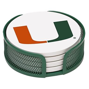 Thirstystone 5 Piece University of Miami Collegiate Coaster Gift Set