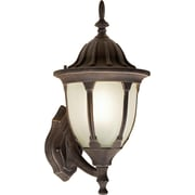 Forte Lighting 1 Light Outdoor Sconce; Painted Rust