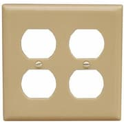 Morris Products 2 Gang Duplex Lexan Receptacle Wall Plates in Ivory