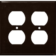 Morris Products 2 Gang Duplex Lexan Receptacle Wall Plates in Brown