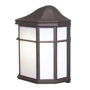Woodbridge Energy Saving 1 Light Wall Lantern; Powder Coat Rust