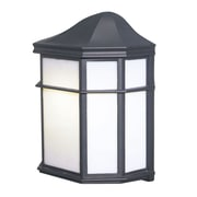 Woodbridge Energy Saving 1 Light Wall Lantern; Powder Coat Black
