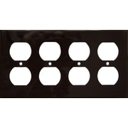 Morris Products 4 Gang Duplex Lexan Receptacle Wall Plates in Brown
