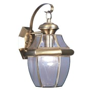 Livex Lighting Monterey 1 Light Outdoor Wall Lantern; Antique Brass