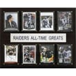 C & I Collectibles NFL All-Time Greats Plaque; Oakland Raiders