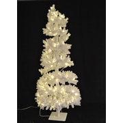Queens of Christmas White Spiral Tree with LED Lights
