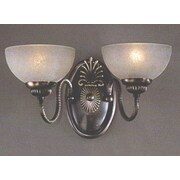 Classic Lighting French Horn 2 Light Wall Sconce