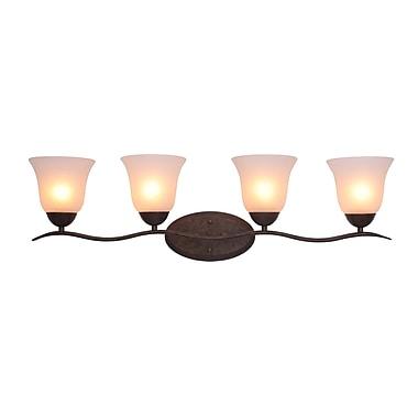 Woodbridge Beaconsfield 4-Light Vanity Light; Marbled Bronze