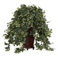 Nearly Natural Vining Puff Ivy Floor Plant in Decorative Vase