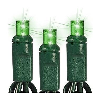 Queens of Christmas 35 Light LED String Light; Green