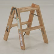 Michigan Ladder 2-Step Wood Double Front Step Stool w/ 300 lb. Load Capacity
