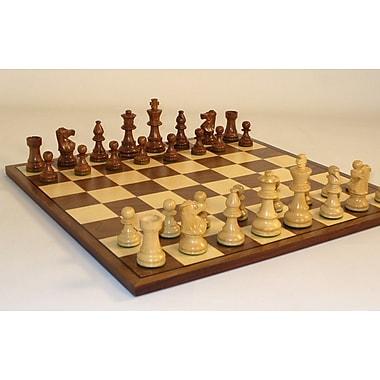 WorldWise Chess Small Lardy-Walnut Chess Board