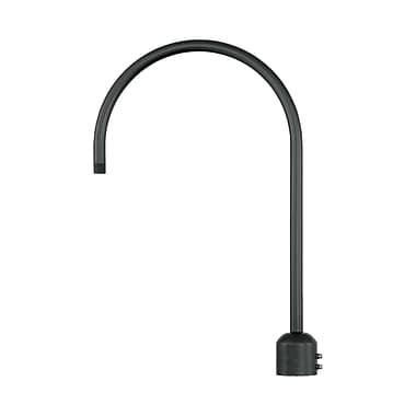 Millennium Lighting R Series Single Post Adapter; Satin Black