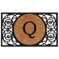 Home & More Circle Monogram Doormat; Q