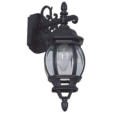 Sunset Lighting French 1-Light Outdoor Wall Lantern; Rubbed Bronze