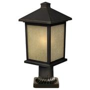 Z-Lite Holbrook 1 Light 14'' Outdoor Post Lantern; Olde Rubbed Bronze