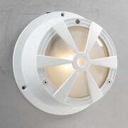 PLC Lighting Sunray 1 Light Wall Sconce; White