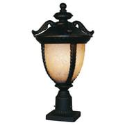Z-Lite Winchester 3 Light 22'' Outdoor Post Lantern; Black Gold
