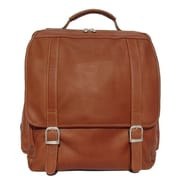 Piel Vertical Backpack; Saddle