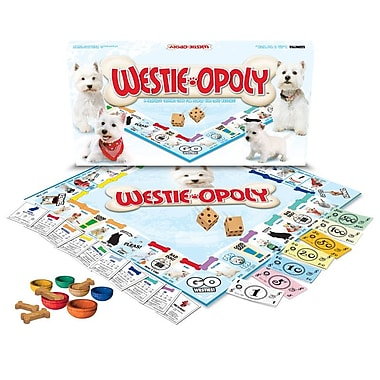 Late for the Sky Breed-Opoly Board Game; Westie