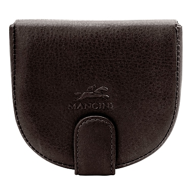 Mancini San Diego Men's Classic Coin Purse; Brown