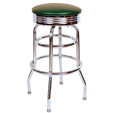 Richardson Seating Retro Home 30'' Swivel Bar Stool ; Green