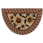Brumlow Mills Sunflower Braid Mat; Wedge 19'' x 31''