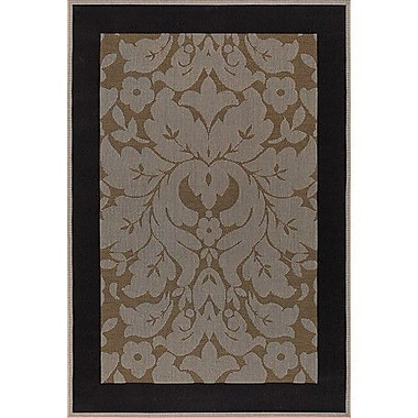 Chandra Plaza Light Brown Indoor/Outdoor Area Rug; 7'2'' x 10'5''