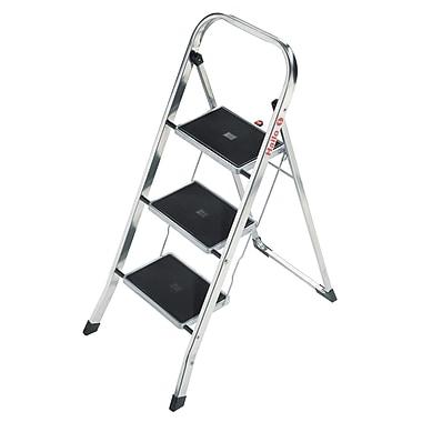 Hailo USA Inc. K30 3-Step Aluminum Step Stool with 330 lb. Load Capacity