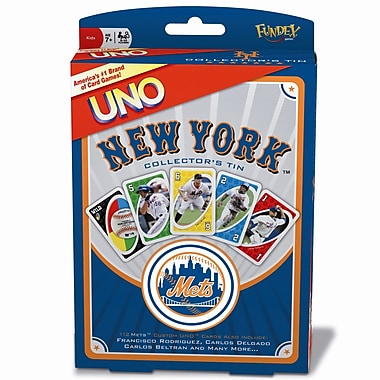 Fundex Games MLB UNO Card Game; New York Mets