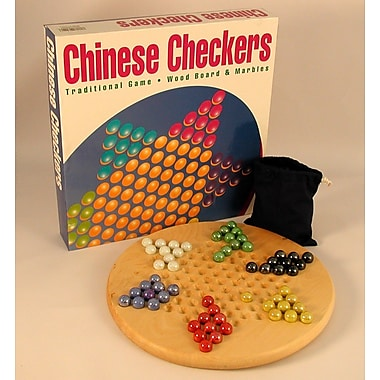 Play All Day Games Wood Round Chinese Checkers