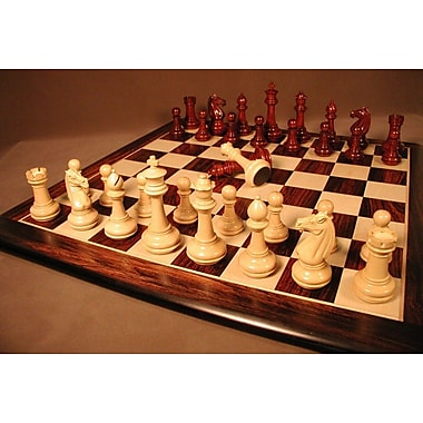WorldWise Chess Meghdoot Bud Rosewood Chess Set