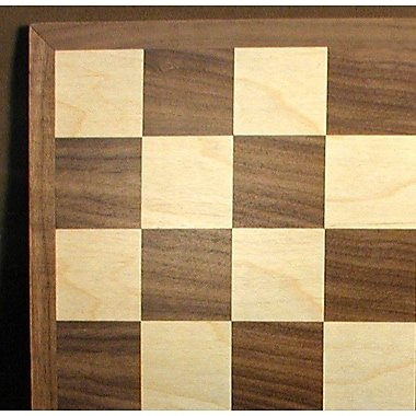 WorldWise Chess 12'' Walnut / Maple Veneer Chess Board