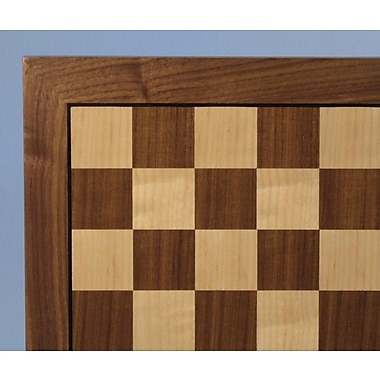 WorldWise Chess 14'' Walnut / Maple Veneer Chess Board